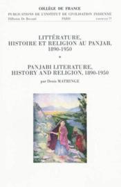 Litterature, Histoire Et Religion Au Panjab, 1890-1950. Panjabi Literature, History And Religion, 18 - Couverture - Format classique