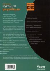 Thèmes d'actualités géopolitiques 2011 pour concours 2012 - 4ème de couverture - Format classique