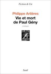 Vie et mort de Paul Gény - Couverture - Format classique
