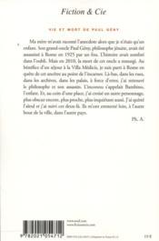 Vie et mort de Paul Gény - 4ème de couverture - Format classique
