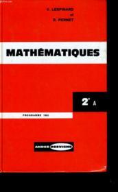 Mathematiques. 2eme A. - Couverture - Format classique