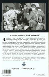 Les forces speciales de la liberation - 4ème de couverture - Format classique