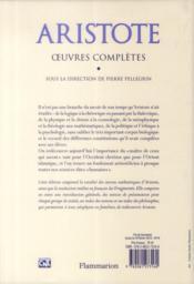 Oeuvres complètes - 4ème de couverture - Format classique