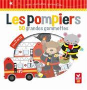 GOMMETTES ; pompiers ; 50 grandes gommettes - Couverture - Format classique