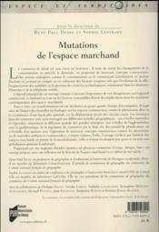 Mutations de l'espace marchand - 4ème de couverture - Format classique