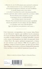 Lettres a une jeune poetesse - 4ème de couverture - Format classique