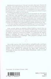 Rabelais (2e Edition) - 4ème de couverture - Format classique