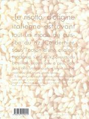 Risottos - 4ème de couverture - Format classique