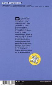 Nuits Blanches À Paris, 2003-2004. De L'Apéro À L'After, Les Adresses Capitales - 4ème de couverture - Format classique
