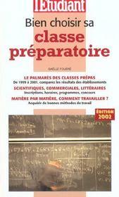 Bien Choisir Sa Classe Preparatoire - Intérieur - Format classique