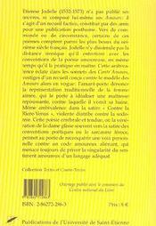 Les Amours - 4ème de couverture - Format classique