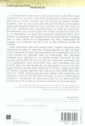 Segregation sociale et habitat - 4ème de couverture - Format classique