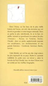Balade dans l'Aisne (2e édition) - 4ème de couverture - Format classique