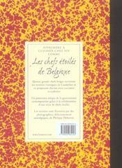 Carnet De Cuisine, Les Chefs Etoiles De Belgique Cuisinent Avec Cauderlier, Vol. 3 - 4ème de couverture - Format classique