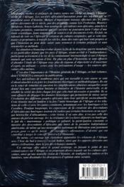 Histoire générale de l'Afrique t.6 ; le XIX siècle jusque vers les années 1880 - 4ème de couverture - Format classique