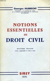 Notions Essentielles De Droit Civil - Couverture - Format classique