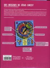 Des origines de Jésus Christ - 4ème de couverture - Format classique