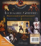 Incroyables guerriers - 4ème de couverture - Format classique