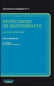 Experiences en ergotherapie 24 serie - Couverture - Format classique