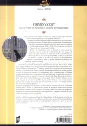 Firminy-Vert ; de l'utopie municipale à l'icône patrimoniale - 4ème de couverture - Format classique
