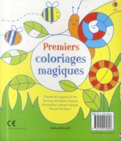 Premiers coloriages magiques - 4ème de couverture - Format classique