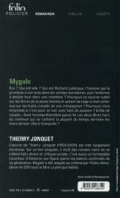 Mygale - 4ème de couverture - Format classique