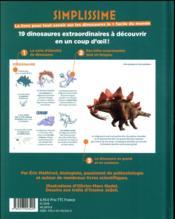 Simplissime ; le livre pour tout savoir sur les dinosaures le + facile du monde - 4ème de couverture - Format classique
