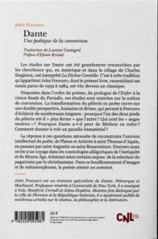 Dante ; une poétique de la conversion - 4ème de couverture - Format classique