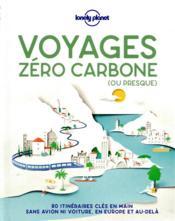 Voyage zéro carbone - Couverture - Format classique
