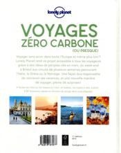 Voyage zéro carbone - 4ème de couverture - Format classique