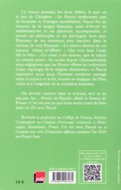 Un été avec ; Pascal - 4ème de couverture - Format classique