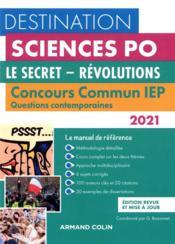 Questions contemporaines ; concours commun IEP ; le secret, révolutions (édition 2021) - Couverture - Format classique