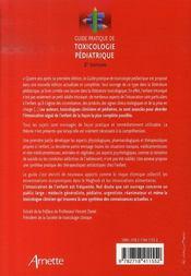 Guide pratique de toxicologie pédiatrique (2e édition) - 4ème de couverture - Format classique