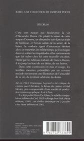 Decorum Babel 487 - 4ème de couverture - Format classique