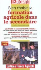 Bien Choisir Sa Formation Agricole Dans Le Secondaire - Couverture - Format classique
