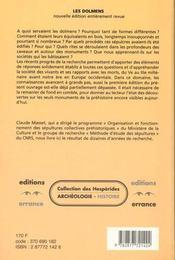 Les Dolmens, Societes Neolithiques Et Pratiques Funeraires - 4ème de couverture - Format classique