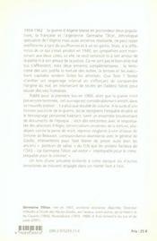 Les ennemis complémentaires ; guerre d'Algérie - 4ème de couverture - Format classique