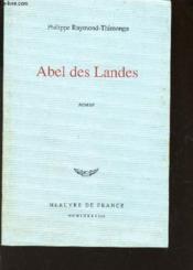 Abel Des Landes - Couverture - Format classique