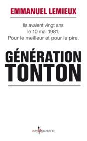 Génération tonton - Couverture - Format classique