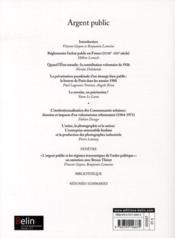 Revue Geneses N.80 ; Argent Public (Septembre 2010) - 4ème de couverture - Format classique