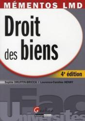 Droit des biens (4e édition) - Couverture - Format classique
