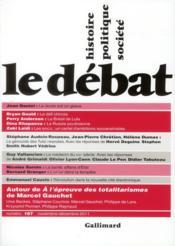 Revue Le Debat N.167 ; Novembre-Décembre 2011 - Couverture - Format classique