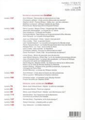 Revue Le Debat N.167 ; Novembre-Décembre 2011 - 4ème de couverture - Format classique
