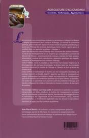 Zootechnie Generale (3. Ed.) (Coll. Agriculture D'Aujourd'Hui) - 4ème de couverture - Format classique