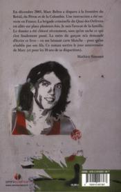 Marc Beltra ; roman autour d'une disparition - 4ème de couverture - Format classique