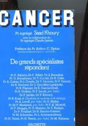 Cancer De Grands Specialistes Repondent - Couverture - Format classique
