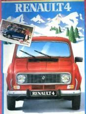 Depliant Publicitaire Renault 4 Gtl - Couverture - Format classique