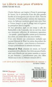 Le lièvre aux yeux d'ambre - 4ème de couverture - Format classique