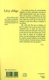 Lévy oblige - 4ème de couverture - Format classique