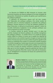 Finances publiques et gestion par la performance dans les pays membres de lUEMOA, étude du cas du Sénégal - 4ème de couverture - Format classique
